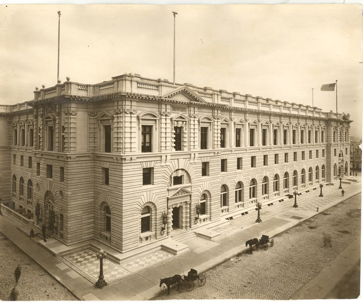 James R. Browning U.S. Court in SF, listed on National Register in 1971, picture from 1905.