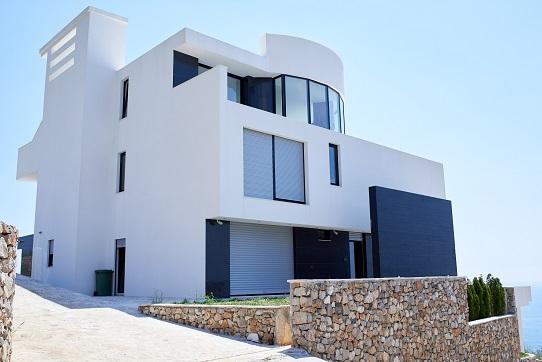 Modern mansion.